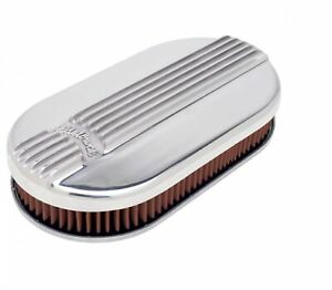Edelbrock 4115 Classic Small Oval Cast Air Cleaner For Single 4 Barrel Carb