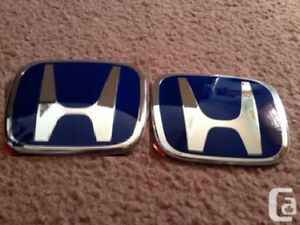 2 X Jdm Honda Blue H Emblem Front And Rear For Accord 2018 4door Sedan Lx Dx