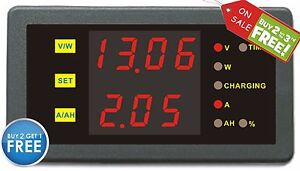 Dc 0 120v 0 500a Dual Voltage Current Capacity Power Watt Meter Battery Monitor