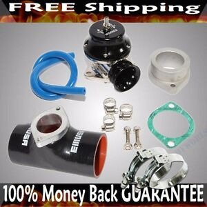 Black Adj Type Rs Blow Off Valve 3 Silicone Type S Adapter Ss Clamps Combo