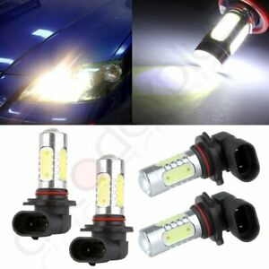 Projector Bulbs 4 Pcs 60w 9005 9006 6000k Xenon Hid White 12v Low High Beam