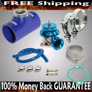 Blue Adj Type Rs Blow Off Valve 2 5 Silicone Type S Adapter Ss Clamps Combo
