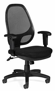 Lot Of 10 Black Otg 11641b mesh Back Managers Chair