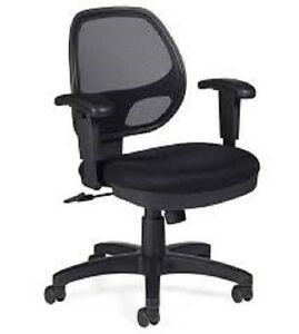 Lot Of 6 Black Otg 11647b Mesh Back Managers Chair