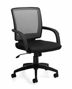 Lot Of 6 Black Otg 10900b mesh Back Managers Chair