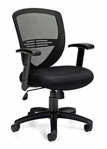 Lot Of 6 Black Otg11320b Mesh Back Managers Chairs