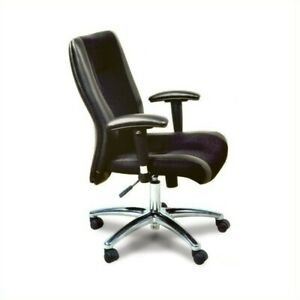 Safco Mercado Black Leather mesh Combo Conference Office Chair