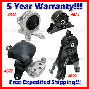 L984 Motor Trans Mount Set 4pcs For 2006 2012 Mitsubishi Eclipse 2 4l Auto