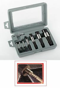 9pc Damaged Nut Screw Extractor Easy Out Set Bit Bolt Stud Remover Tool