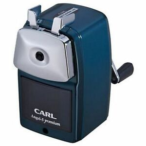Carl Angel 5 Premium Hand cranked Pencil Sharpener A5pr b blue