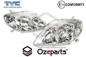 Pair Lh rh Head Light Lamp For Toyota Corolla Zze122 Hatch 2001 2004
