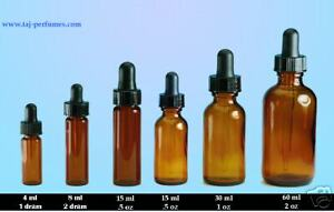 144 Pcs 4 Dram Amber 15ml Glass Vials W glass Dropper