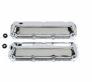 Edelbrock 4463 Signature Series Valve Covers 3 6 Tall For 429 460 Ford V8