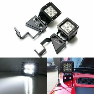 40w Cree Led Pods W Front Cowl Mounting Brackets For 2007 14 Toyota Fj Cruiser