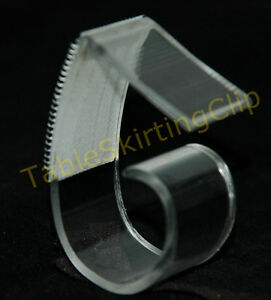 250 Large Table Skirting Skirt Clips Clip Fits Table Edges 1 25 To 2 5 Thick