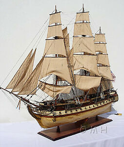 Uss Constitution Tall Ship 59 Xl Wooden Model Sailboat Assembled