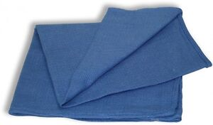 100 New Blue Glass Cleaning Shop Towel huck Towels Janitorial Lint Free 15x25