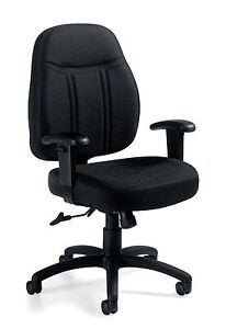 Lot Of 10 Black Otg11651 Tilter Chair With Arms