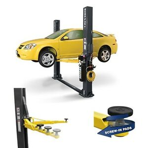 Bendpak 9 000 Lb Low Profile 2 Post Short Drive On Chain Over Car Lift Xpr 9s lp