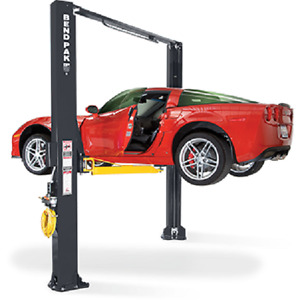Bendpak 10 000 Lb 2 Post Extra Tall Clearfloor Drive On Car Lift Xpr 10as 168