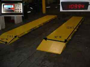 12ft X 32 Truck Scale Axle Scale Heavy Duty 60 000 Lb Portable