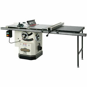 Shop Fox W1820 10 inch Cabinet Saw W Riving Knife Long Rails Extension Table