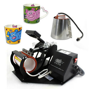 Digital Cup Heat Transfer Press Sublimation Machine Coffee Latte Mug 2 Size