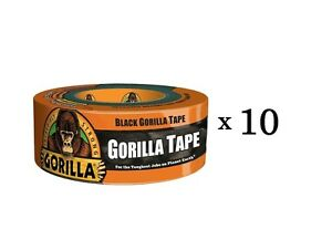 Gorilla Duct Tape 1 88in X 105ft Black Heavy Duty Tape Pro Contractor 10 rolls