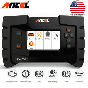 Fx4000 All Systems Automotive Obdii Code Reader Diesel Gas Diagnostic Scan Tool