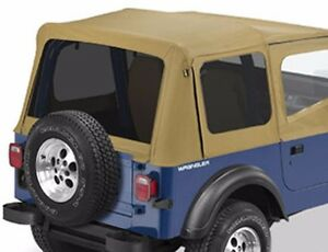 Bestop Replace A Top Tinted Window Kit Jeep Wrangler Yj 1987 1995 Almond