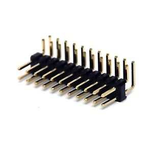 500 Male Pin Header Right Angle 90 Dual Row 2x11p 2x11 Pitch 2 54mm Rohs H 6mm