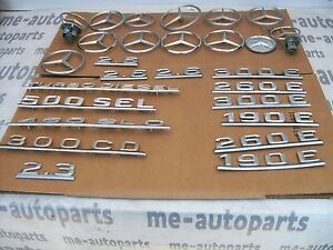 Mercedes Lot 1 Of Vintage Chrome Emblems Emblem Hood Ornaments Approximately 26