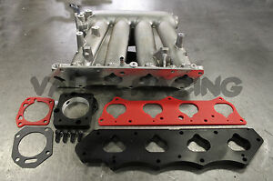 K20 To H22 Clipped Rbc Intake Manifold Skunk2 Intake And Tb Adapter Plates
