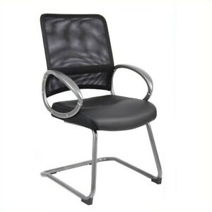 Boss Office Products Mesh Guest Chair In Black