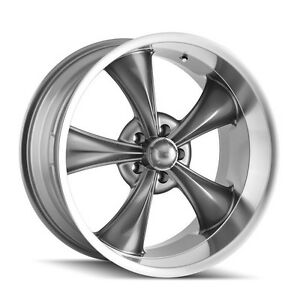 Cpp Ridler Style 695 Wheels 17x7 Front 17x8 Rear 5x4 75 Gray Machined