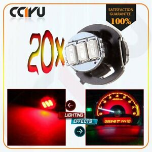 20 X Super Red T4 T4 2 Neo Wedge Led Cluster Dash Indicator Climate Lights Lamp