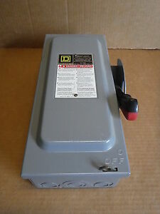 Square D Type 1 Enclosure Single Throw Fusible Safety Switch H221n Electrical