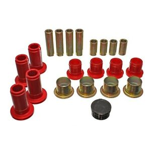 Energy Suspension 5 3124r Control Arm Bushing Set Red Front