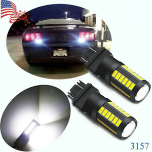 2x Super White Reverse Backup Lights 3156 3157 High Power Led Chip Bulbs