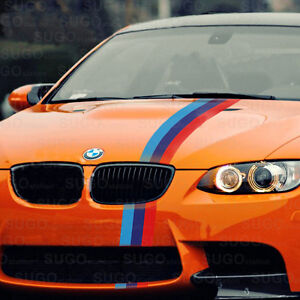 48 Bmw M Power 3 Colored Racing Body Stripe Decal Custom Diy Sticker 4ft