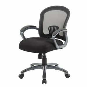Boss Office Ergonomic Mesh Task Chair In Black