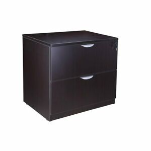 Boss Office 2 Drawer Lateral File Cabinet In Mocha