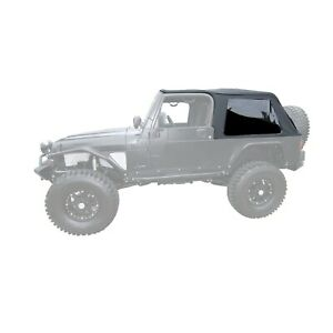Rampage 109635 Bowless Soft Top Kit Black For 04 06 Jeep Wrangler Unlimited Lj