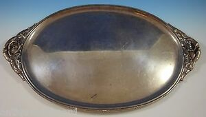 Redlich Co Sterling Silver Serving Tray 9392 26 1 2 X 16 Peacelily 1200