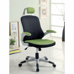 Furniture Of America Panna Adjustable Mesh Office Chair In Green