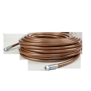 Titan High Pressure 3 8 X 50 Bronze Airless Paint Spray Hose 7500psi Oem