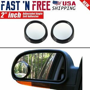 2 Pcs Universal 2 Wide Angle Convex View Adjustable Blind Spot Mirror For Car