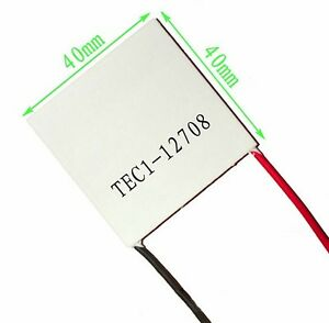 10pcs Tec1 12708 Heatsink Thermoelectric Cooler Cooling Peltier Plate Module Ca