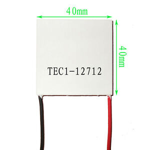 10pcs Tec1 12712 Heatsink Thermoelectric Cooler Cooling Peltier Plate Module Ca