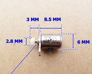 5pcs Dc Micro Digital Camera Stepper Motor 6x8 5mm With Copper Gear New